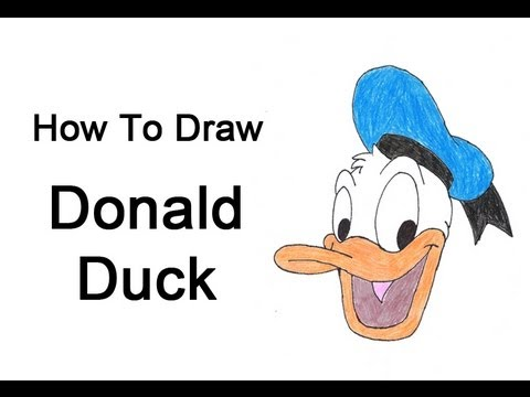 how to draw donald duck