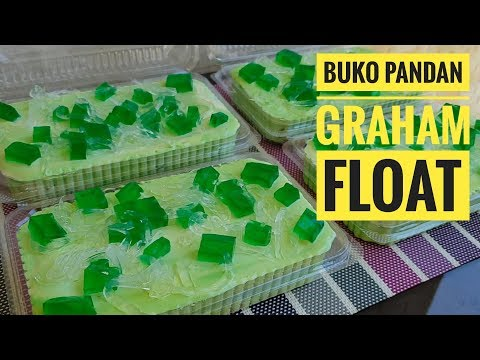 Buko Pandan Graham Float (Icebox Cake)