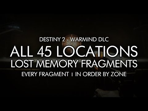 Destiny 2 - All 45 Lost Memory Fragment Locations - In Order By Zone