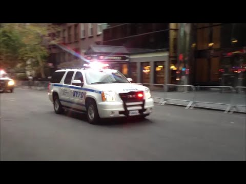 NYPD & United States Secret Service Initial Lead Team Of The United States Presidential Motorcade