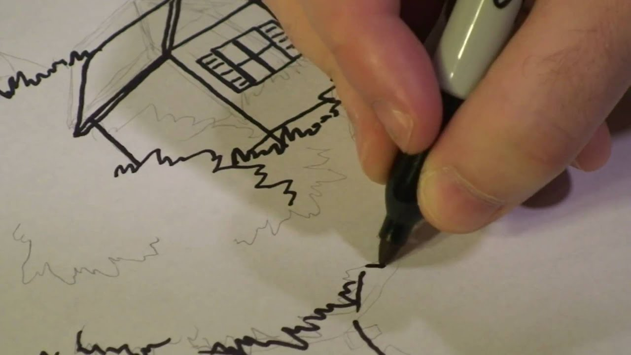 Kids Tree House Drawing how to draw a tree house - youtube