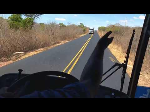 Na estrada BR135 rodovia da morte, tem hora que dá medo.