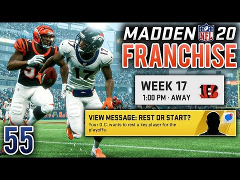 Regular Season Finale & Playoff Preview - Madden 20 Broncos Franchise (Y3:G16) - Ep.55