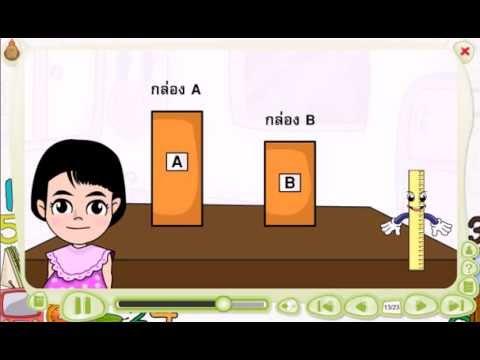 สื่อการเรียนรู้แท็บเล็ต ป.1 วิชา คณิตศาสตร์ เรื่อง การเปรียบเทียบความยาว
