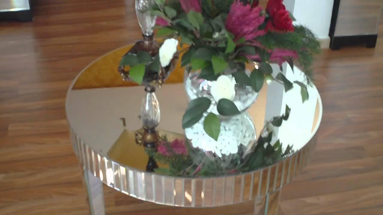 Mueble espejo mesa camilla youtube for Mueble que se convierte en mesa
