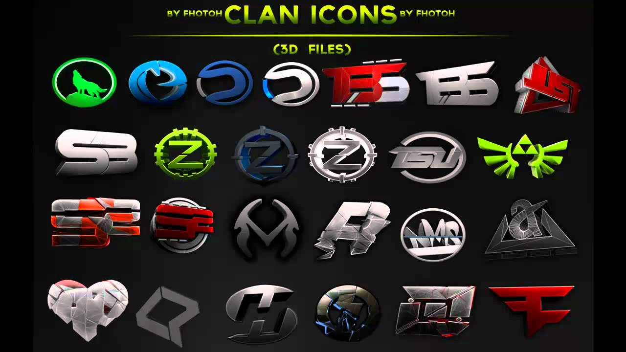 Clan Icon Pack - 3d Files