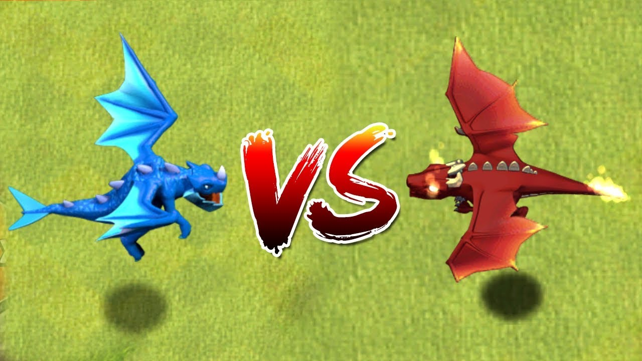 ELECTRO DRAGON vs DRAGON - Clash of Clans Battle! New Troop Attacks in CoC - Max Town Hall 12!