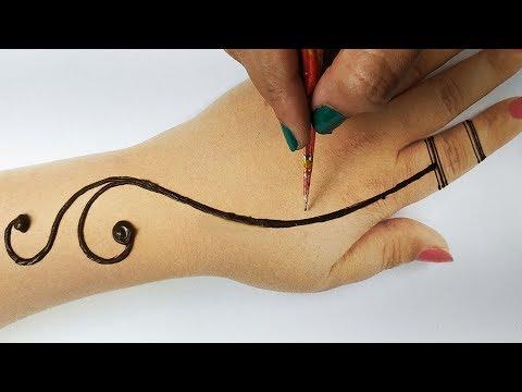 मेहँदी लगाने का आसान तरीका - बहुत सरल मेहँदी डिज़ाइन - Easy Stylish Backhand Mehndi Designs New!