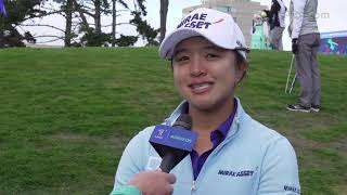 Sei Young Kim takes the lead, talks about tough conditions at the LPGA MEDIHEAL Championship