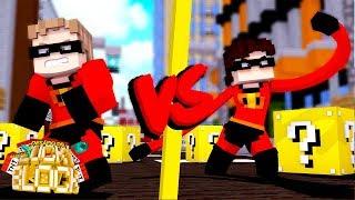 A BATALHA DOS INCRÍVEIS! - Minecraft Desafio de Lucky Block