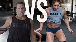 CROSSFIT GAMES ATHLETE VS EVERYDAY ATHLETE- MAX REPS FACE OFF!
