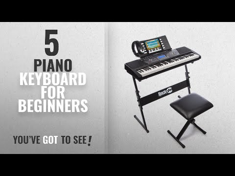 top10-piano-keyboard-for-beginners-[2018]:-rockjam-61-key-electronic-keyboard-superkit-with-stand,