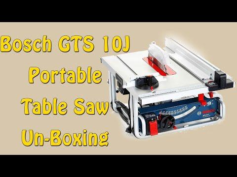 Bosch GTS 10J Portable Table Saw Un-Boxing