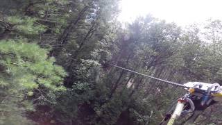 Ziplining at Ganaraska Forest