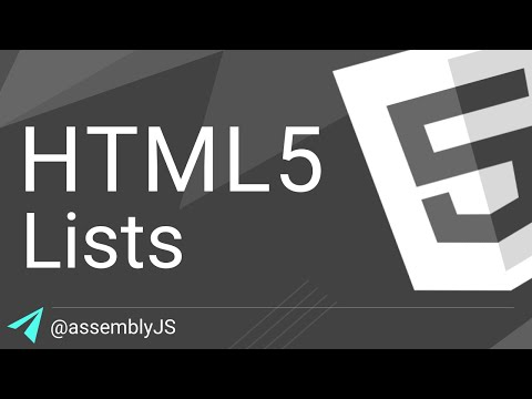 Creating Lists In HTML: Ordered, Unordered & Nested Lists | HTML5 |  #SigmaSchool