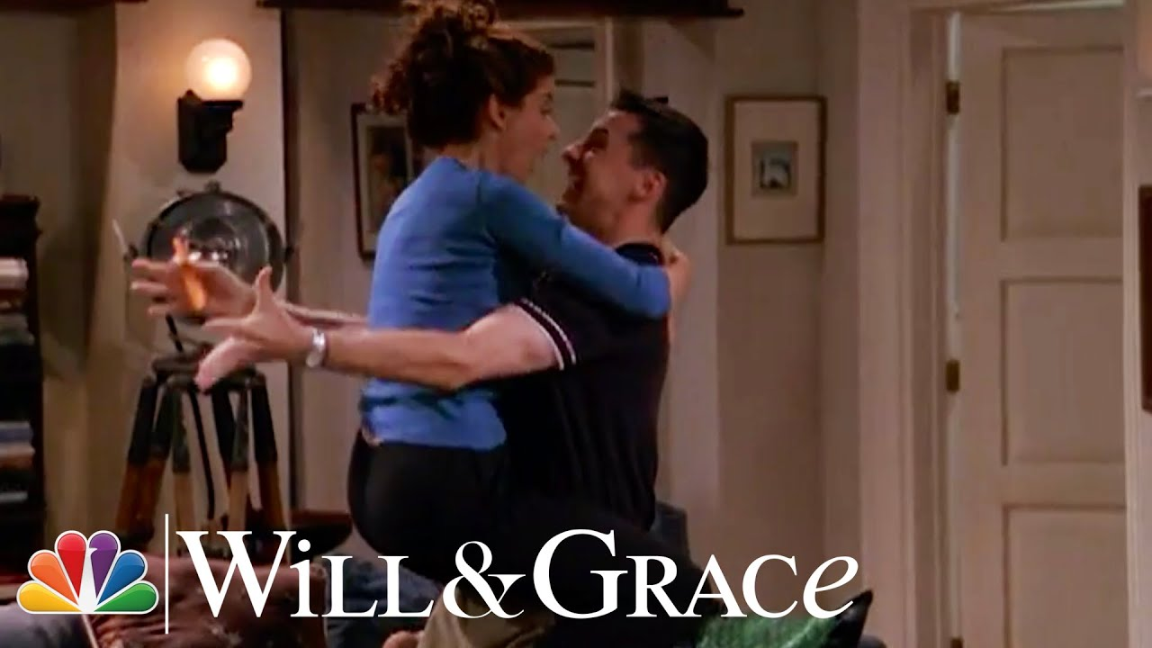 Jack and Grace Bond Over Ice Skating - Will & Grace