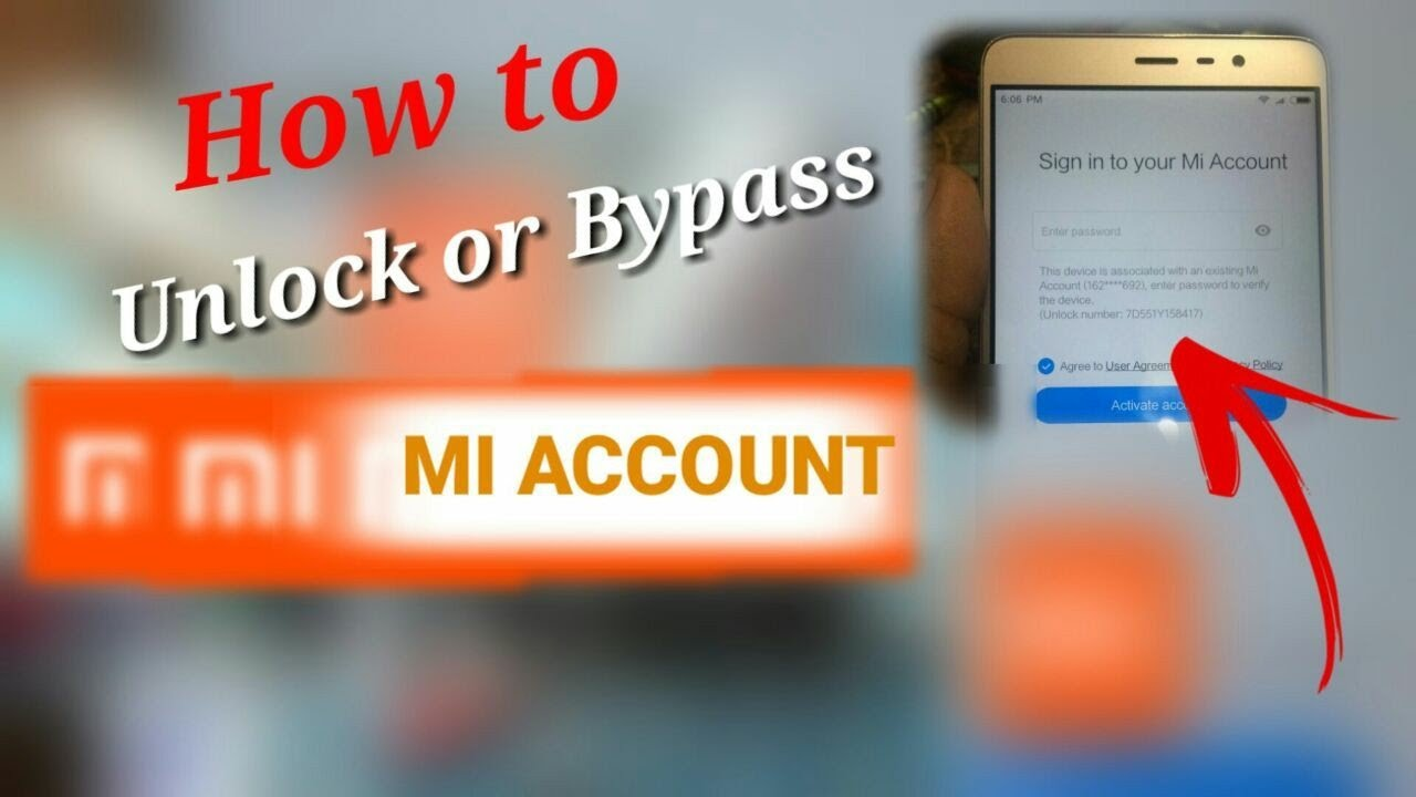 How To Unlock Or Bypass Mi Account Password Reset Mi Account Youtube