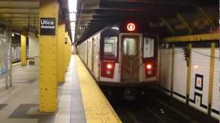 IRT Eastern Parkway Line: R142A 4 Train at Crown Heights-Utica Ave (Manhattan Bound)