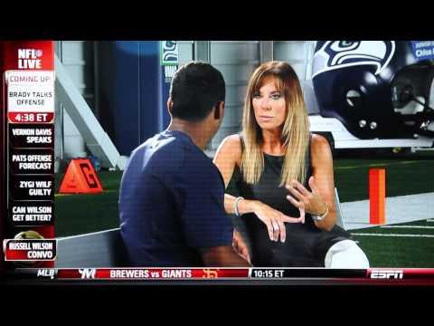 ESPN's Colleen Dominguez Interview With Russell Wilson (8/06/2013)