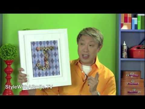 How to Make a Vintage Spool Monogram Art Piece