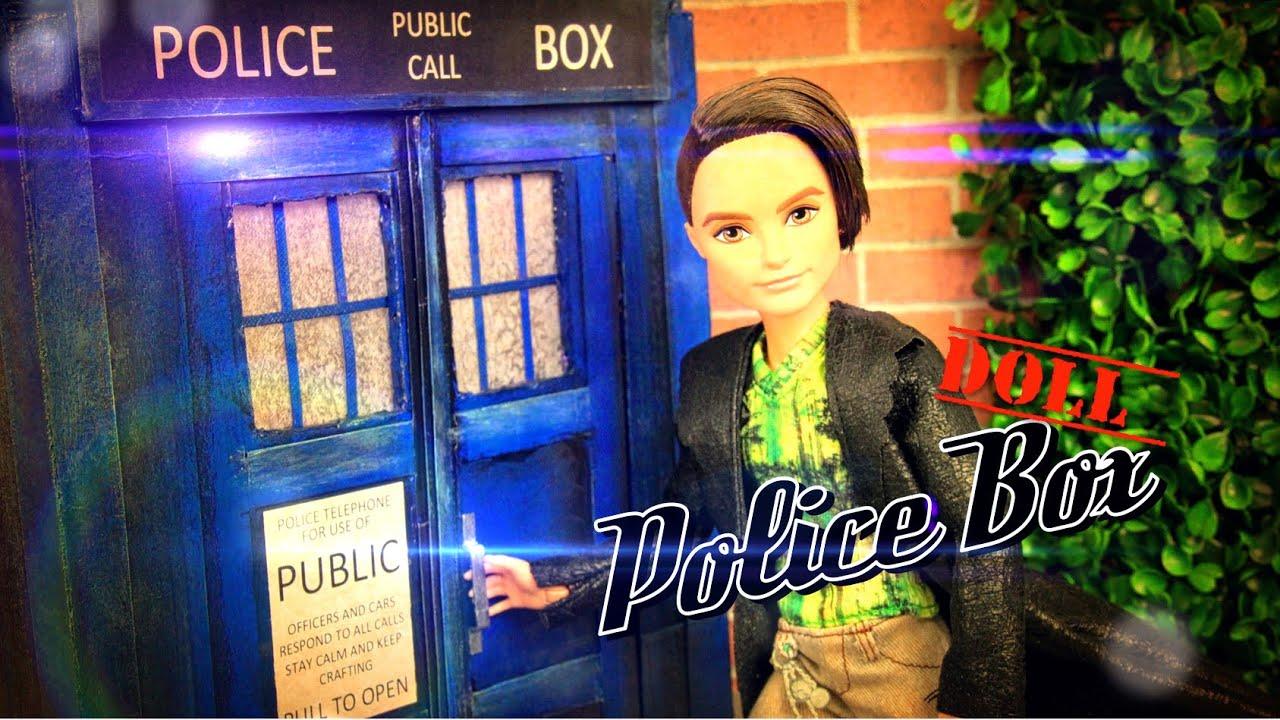 Diy How To Make Doctor Who Police Box Handmade Doll