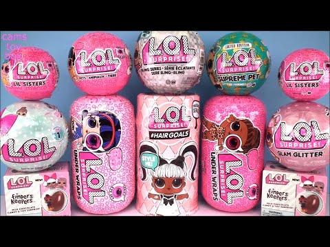 LOL Surprise Hairgoals Series 5 4 Under Wraps 1 Bling Glam Glitter DOLLS Eye Spy Supreme PET NEW