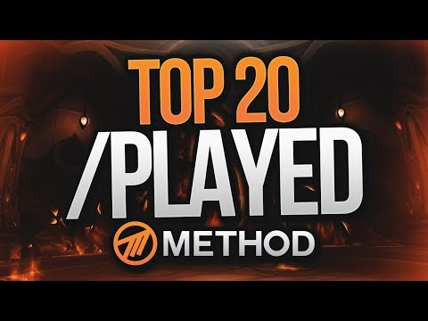 WORLD OF WARCRAFT TOP 20 MOST /PLAYED IN METHOD!