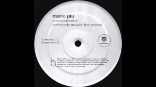 Mario Più - Communication (More Mix) (1999)