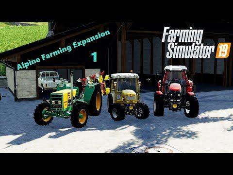 Let's Plow The Field | Alpine Farming Expansion | Farming Simulator 19 | Episode 1 |