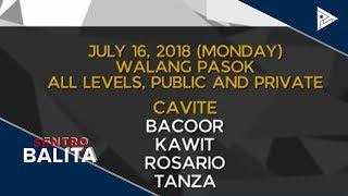 Pasok sa ilang paaralan, suspendido ngayong araw #WalangPasok
