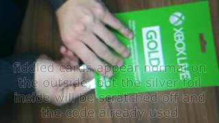 Do NOT buy Xbox Live Prepaid Cards online