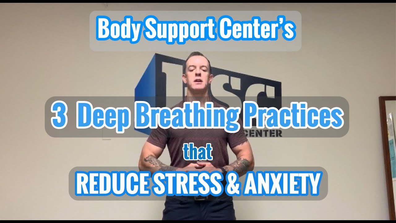 3 Deep Breathing Exercises to Reduce Stress & Anxiety!