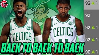 90 OVERALL STARTING LINEUP! Rebuilding the Boston Celtics! NBA 2K19