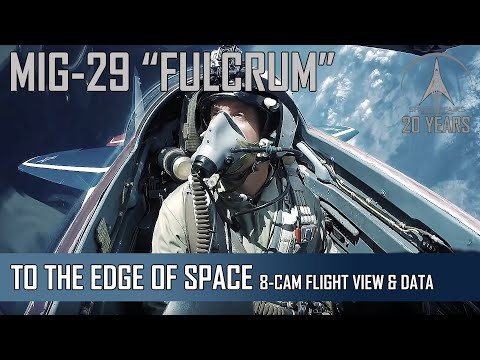 MIG-29 High Altitude - 8-Camera view + Flight Data