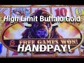 HANDPAY!  Risky $12 bets on Buffalo Gold Slot Machine