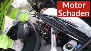 Tesla Model S Motor Schaden Und Kabel Fehler