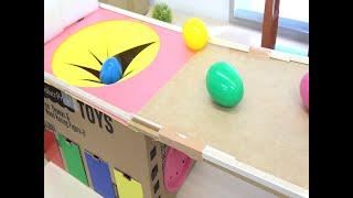 New Spo Spo Box Colorful Egg Capsule Ball and Slide Color Garage すぽすぽ動画