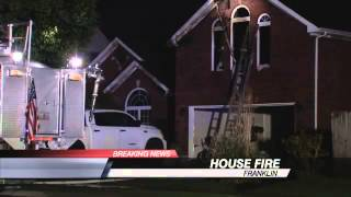 Franklin Home Ablaze Following Domestic Disturbance