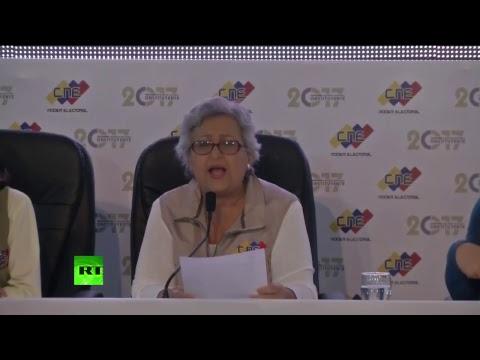 El Consejo Nacional Electoral anuncia los primeros resultados de la Constituyente en Venezuela