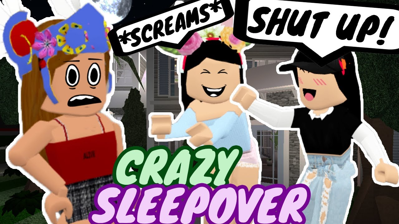 Sleepover At My Friends Crazy House Funny Roblox Roleplay Youtube