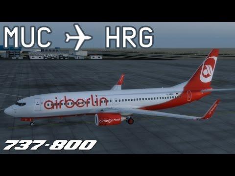 [P3D] Munich to Hurghada | BER3552 | airberlin | PMDG 737-800 | IVAO