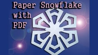 Design A Perfect Paper Snowflake For Christmas, Easy Origami Or Kirigami Snowflake (diff 2/10)