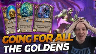 We Wanted ALL GOLD EVERYTHING!   Hearthstone Battlegrounds   Savjz