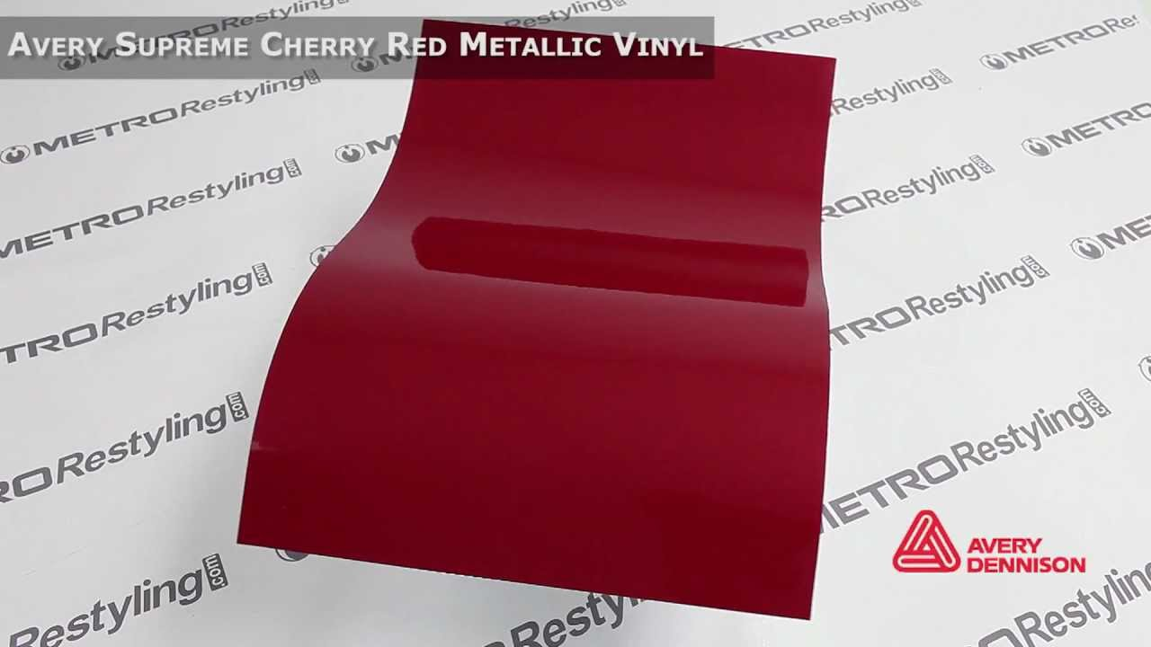 Auto Vinyl Wrap >> Avery Supreme Wrapping Vinyl Film Gloss Cherry Red Metallic - YouTube