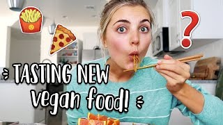 TRYING NEW VEGAN FOOD! + GROCERY HAUL!