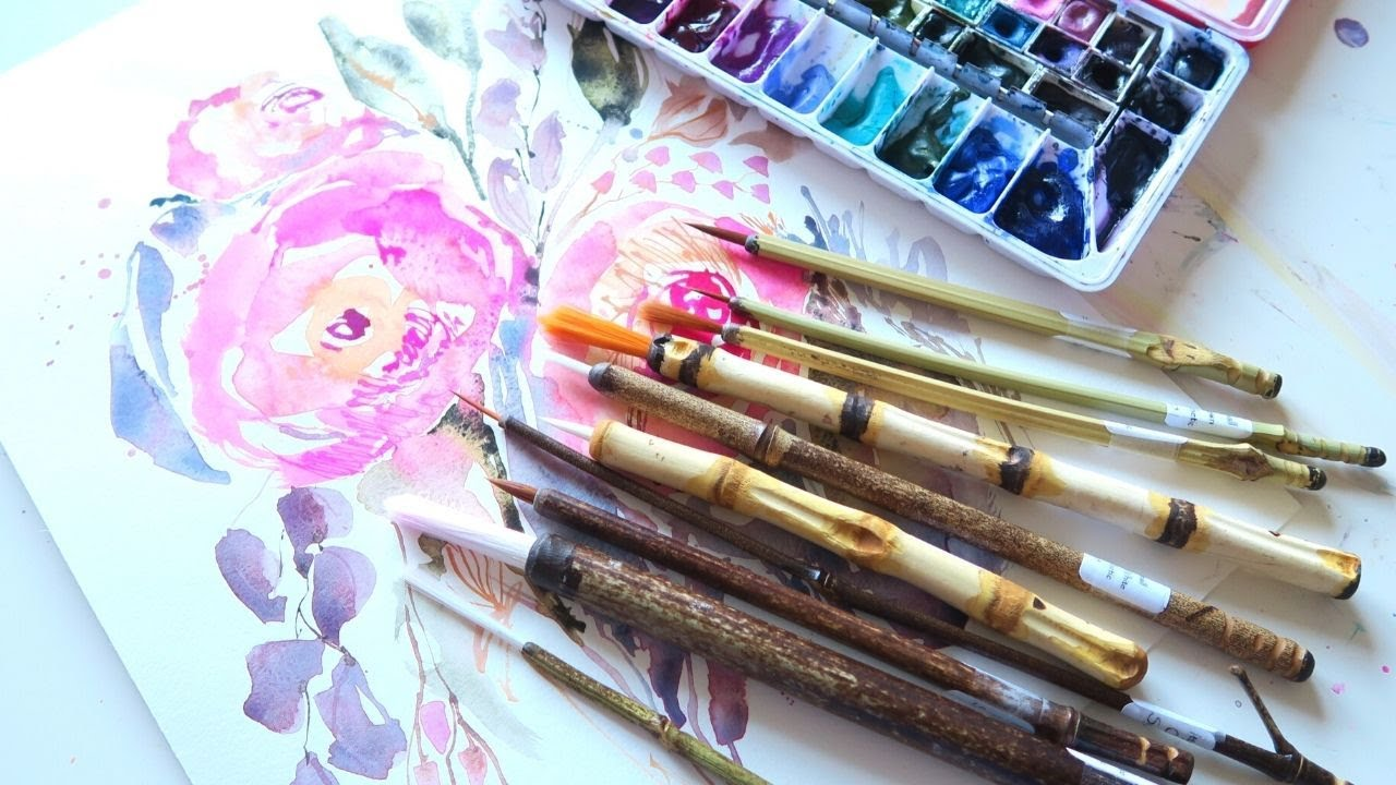 Handmade Brushes- Let's Paint!