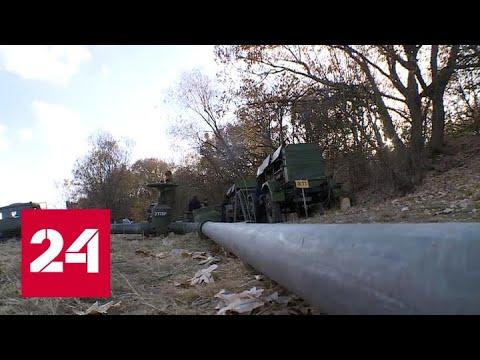 В Крыму военные завершают прокладку магистрального водопровода - Россия 24