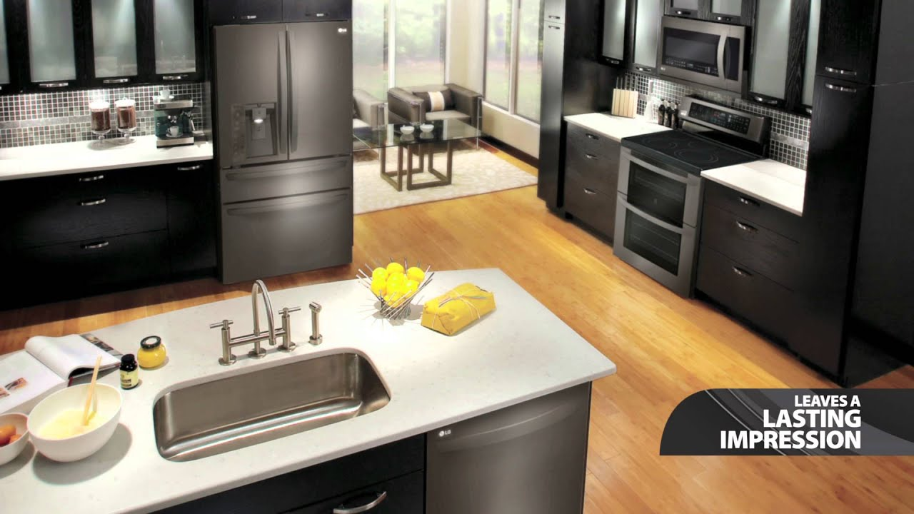 LG Black Stainless Steel Kitchen Appliances