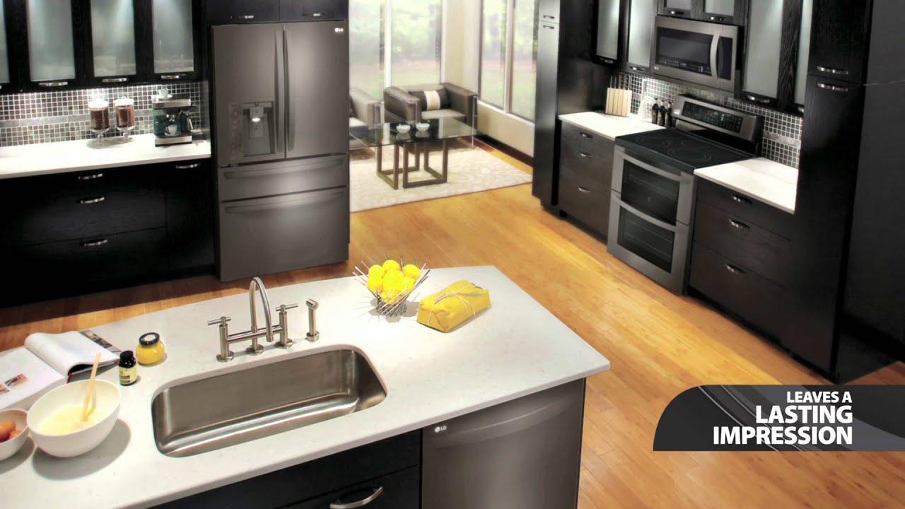 Black Stainless Steel Kitchen Filter Lg Appliances Youtube