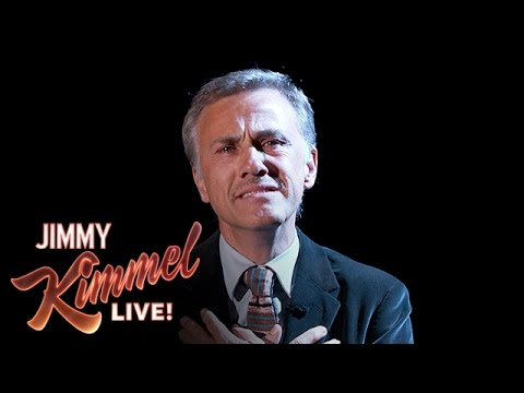 Christoph Waltz's Dramatic Interpretation of Sesame Street Theme